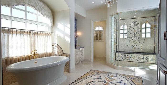 现代欧式卫浴间装修图片
